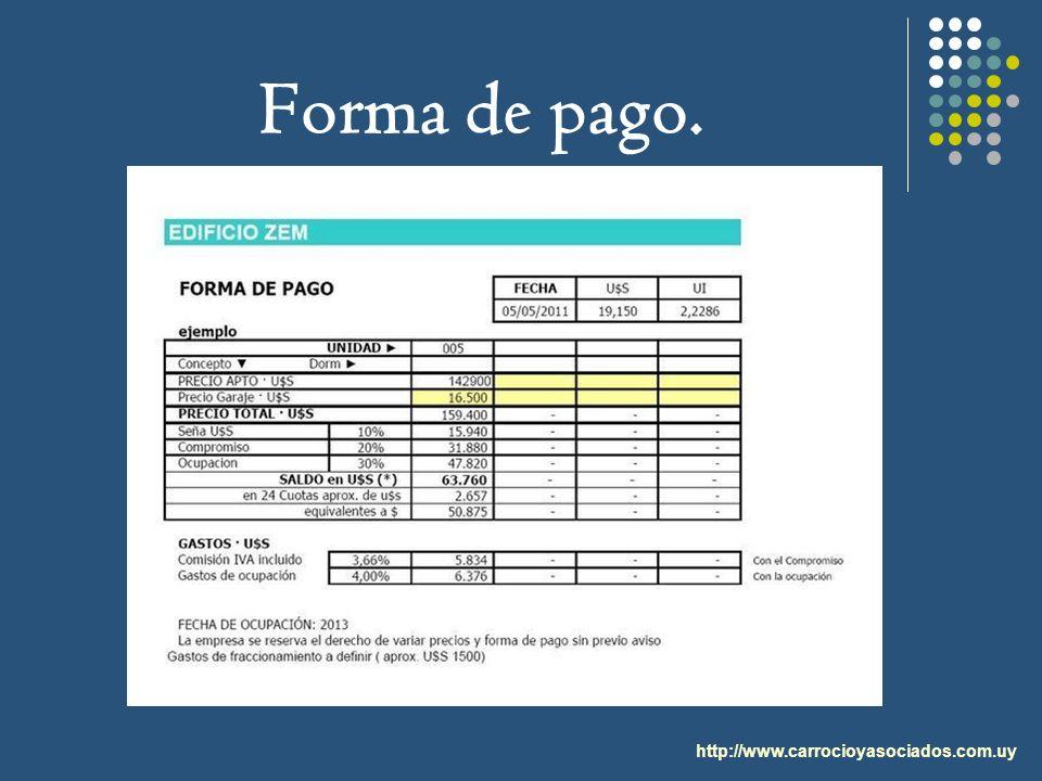 Forma de pago. http://www.carrocioyasociados.com.uy