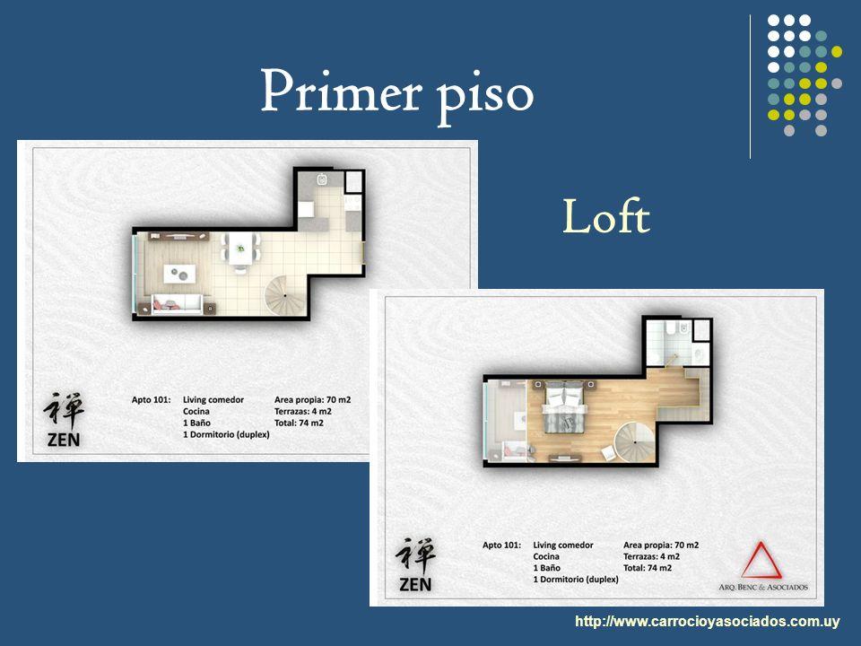 Primer piso Loft http://www.carrocioyasociados.com.uy