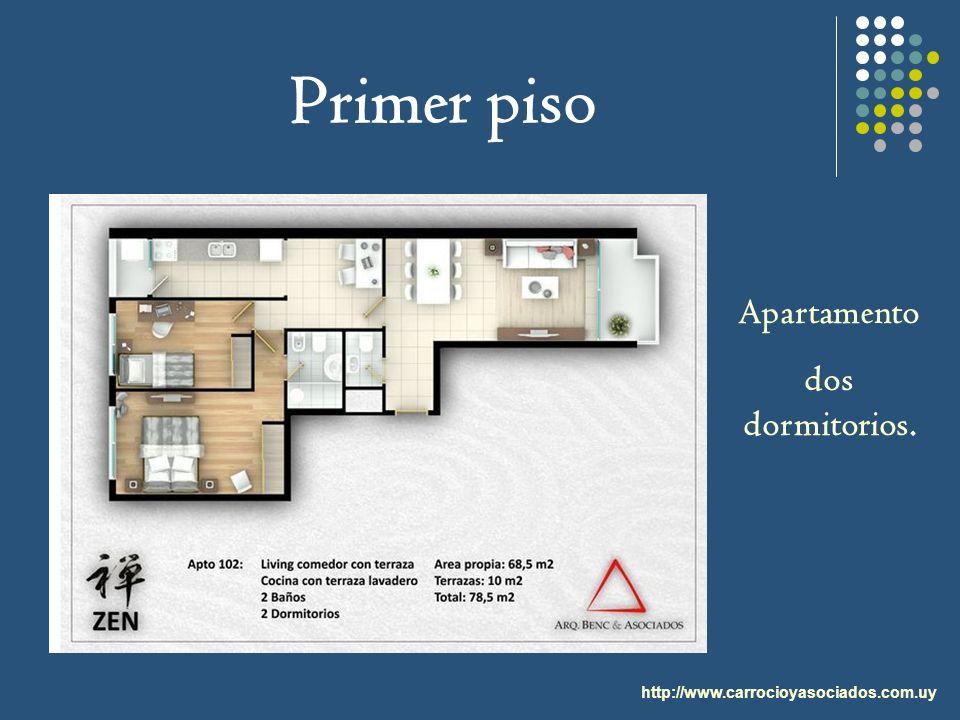 Primer piso Apartamento dos dormitorios.