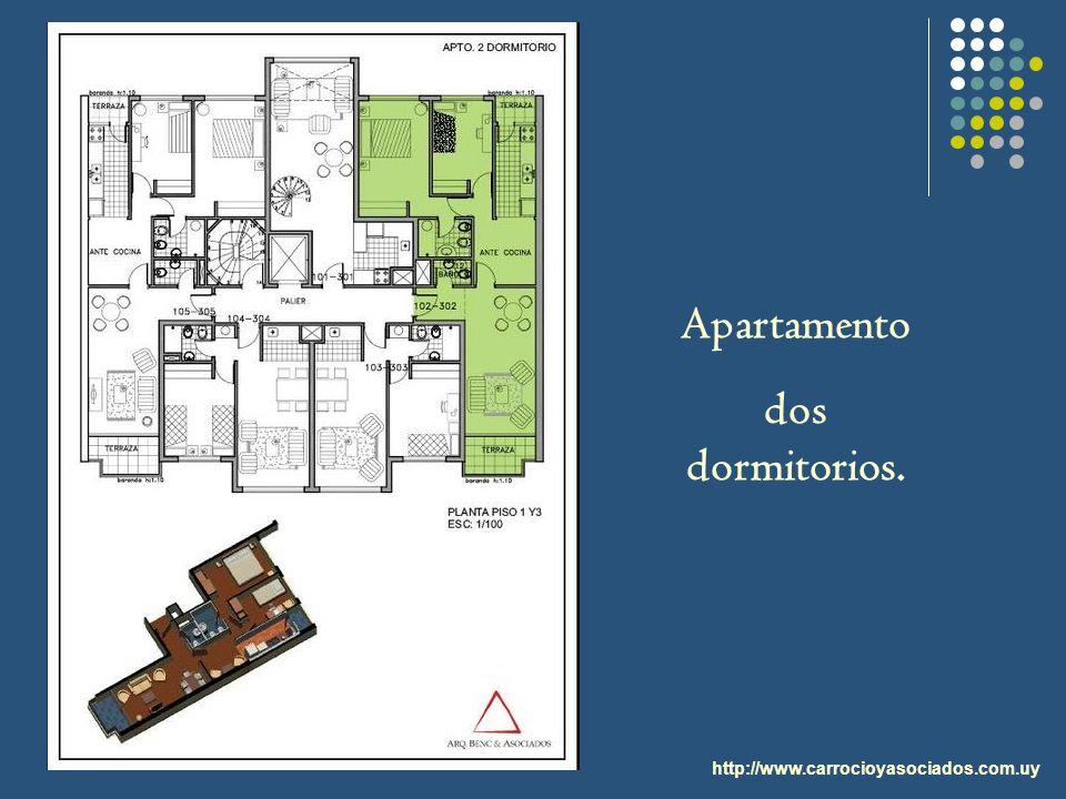 Apartamento dos dormitorios.