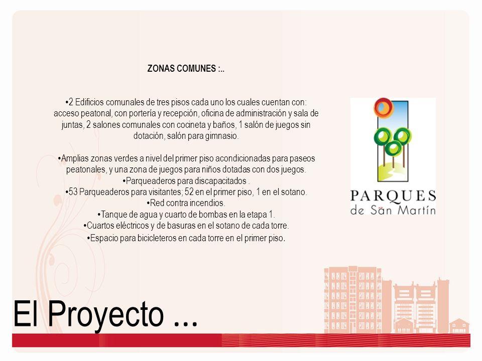 El Proyecto ... ZONAS COMUNES :..