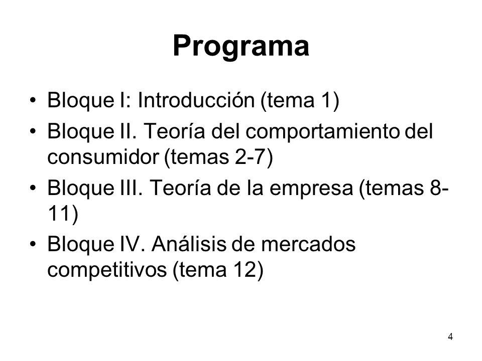 Programa Bloque I: Introducción (tema 1)