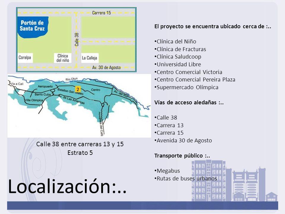 Localización:.. Calle 38 entre carreras 13 y 15 Estrato 5