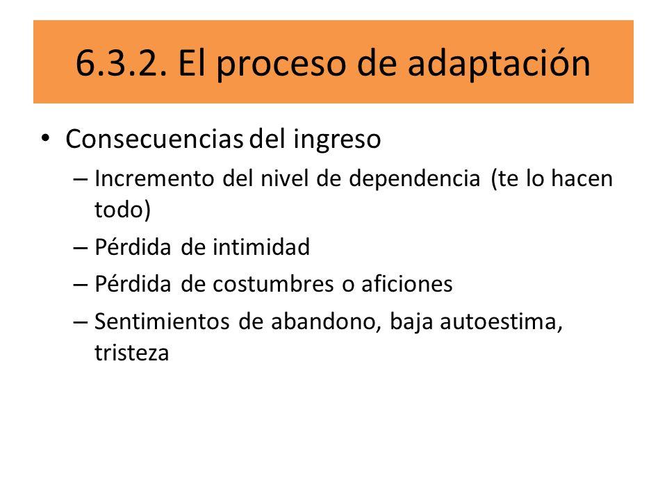 6.3.2. El proceso de adaptación
