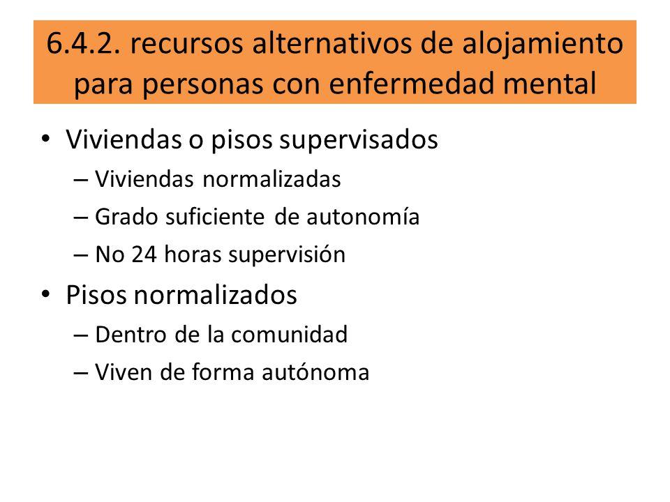 6.4.2. recursos alternativos de alojamiento para personas con enfermedad mental