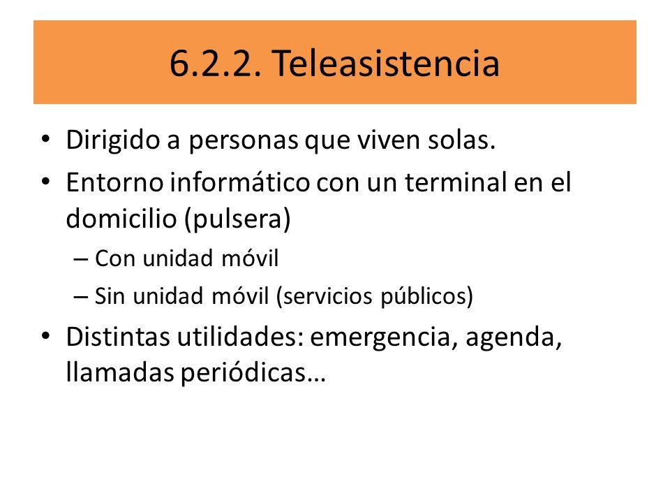 6.2.2. Teleasistencia Dirigido a personas que viven solas.