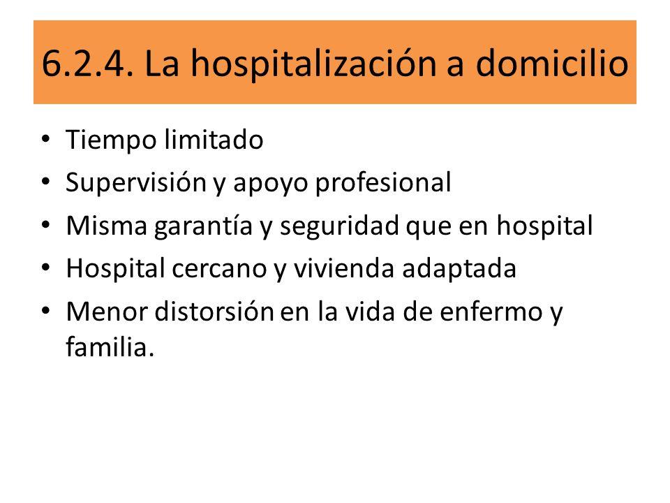 6.2.4. La hospitalización a domicilio