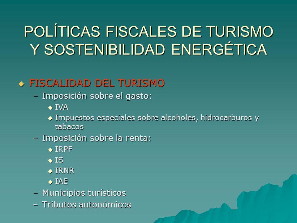 POLÍTICAS FISCALES DE TURISMO Y SOSTENIBILIDAD ENERGÉTICA