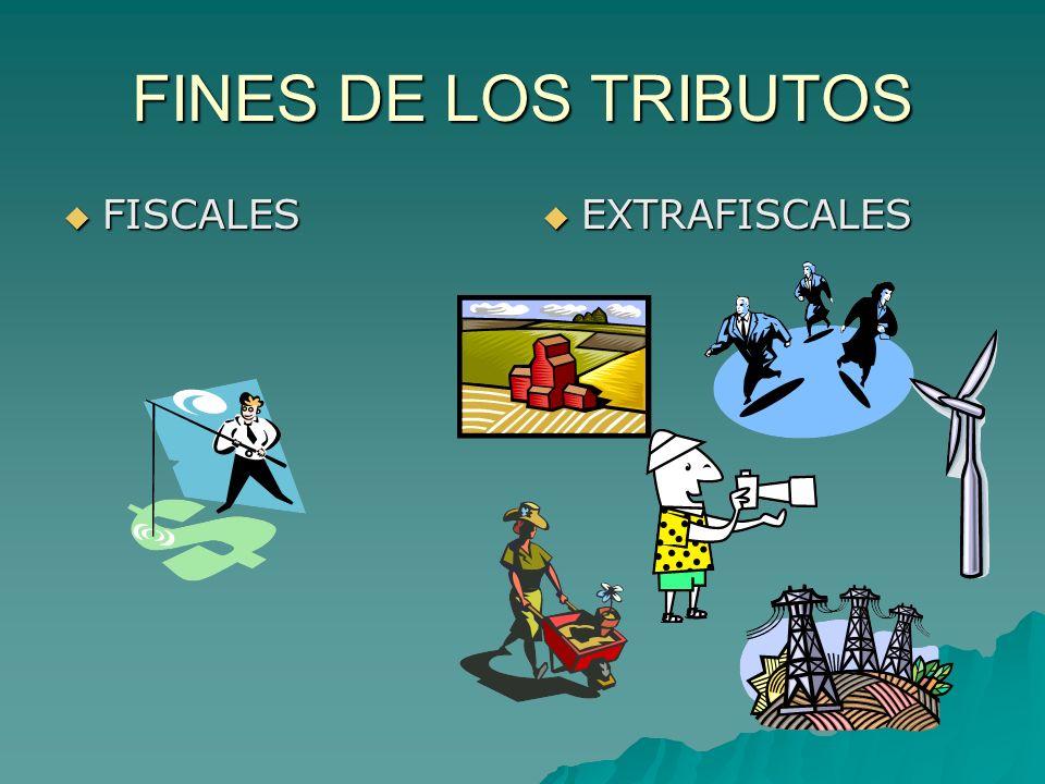 FINES DE LOS TRIBUTOS FISCALES EXTRAFISCALES