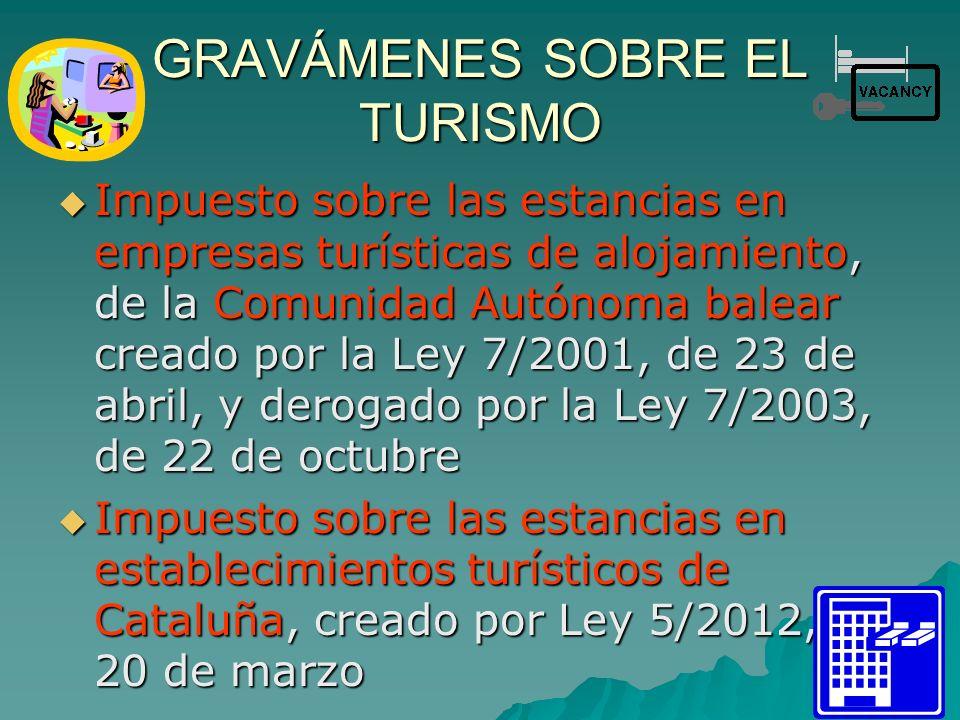 GRAVÁMENES SOBRE EL TURISMO