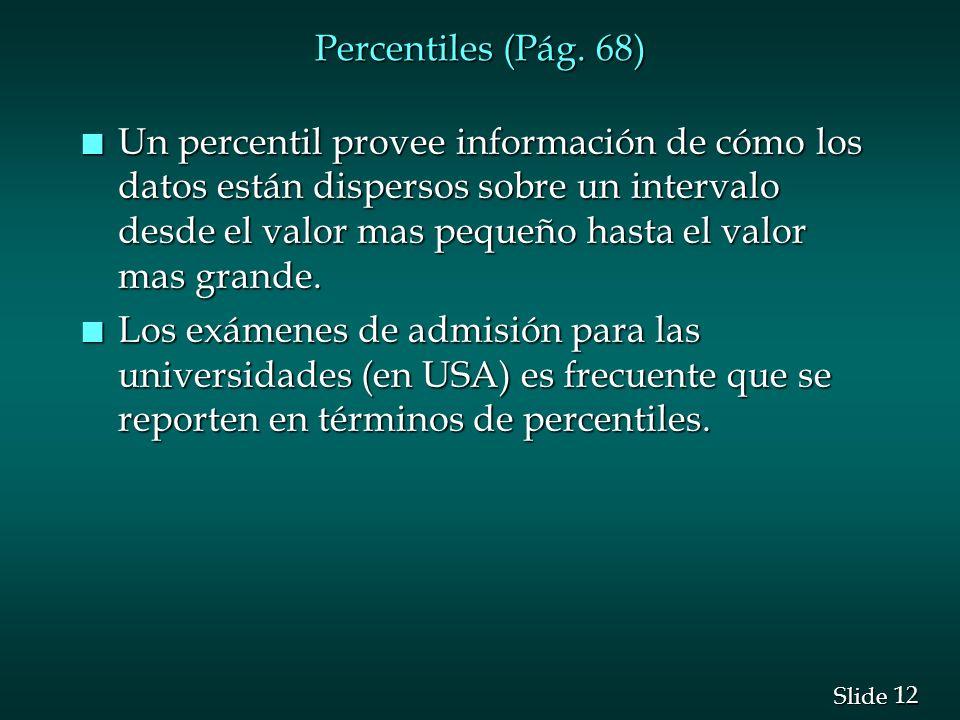 Percentiles (Pág. 68)