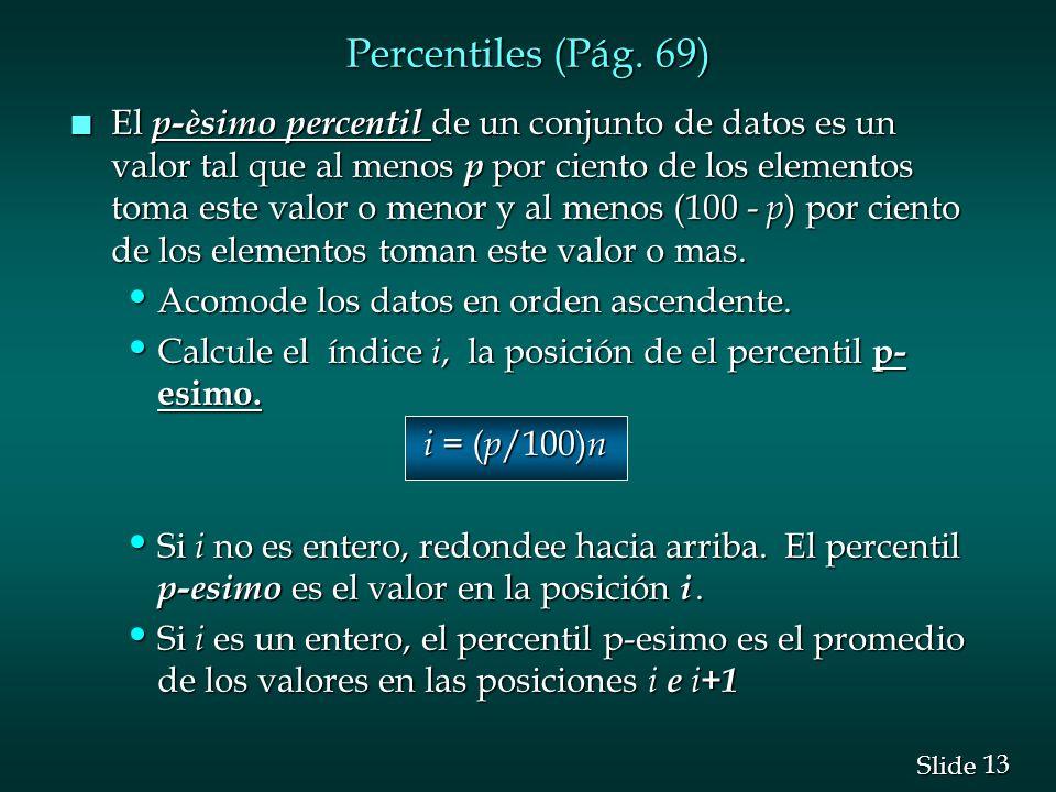 Percentiles (Pág. 69)