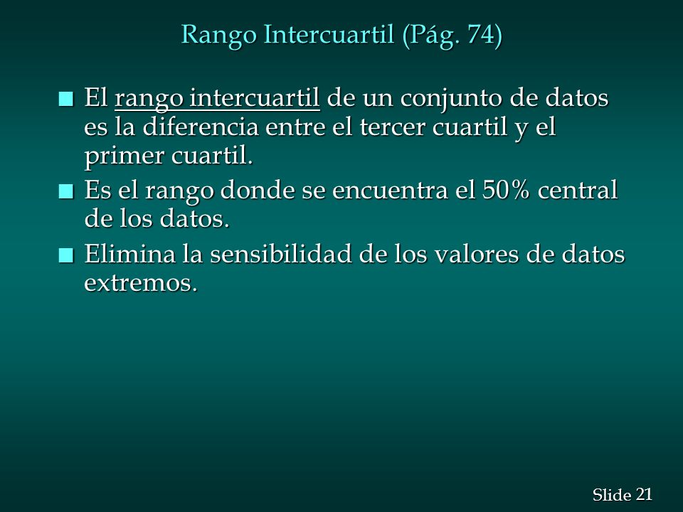 Rango Intercuartil (Pág. 74)