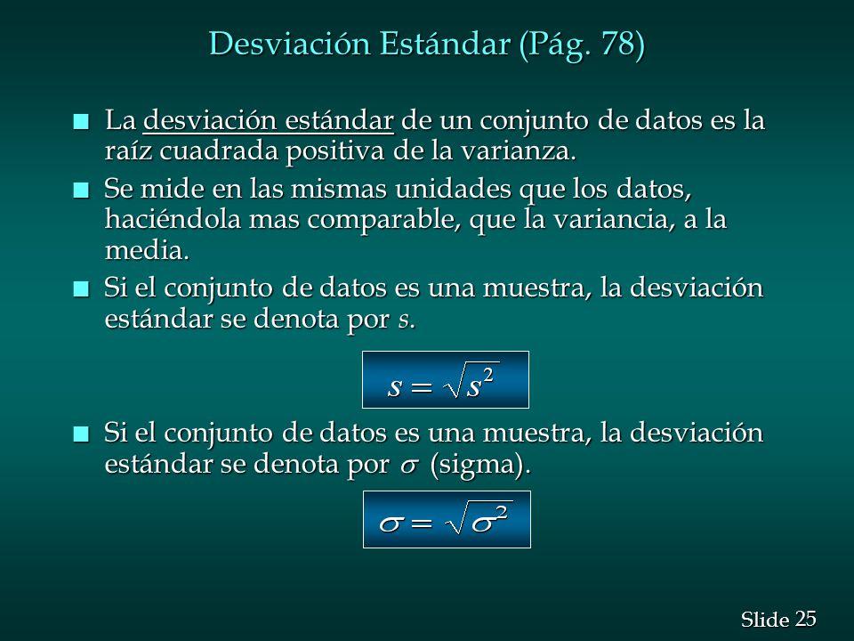 Desviación Estándar (Pág. 78)