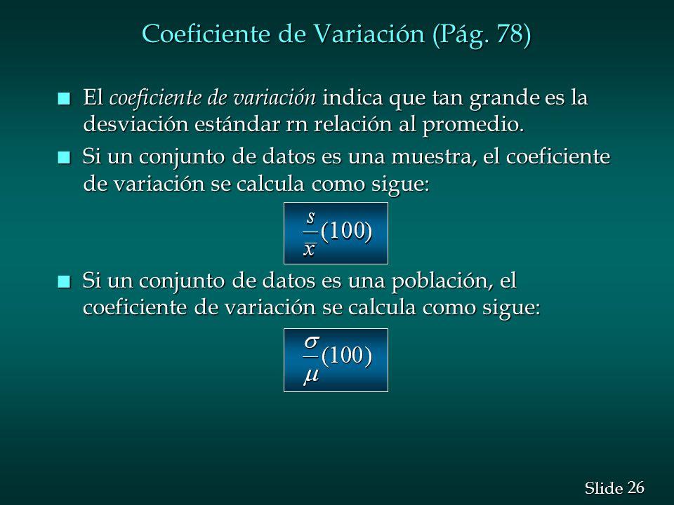 Coeficiente de Variación (Pág. 78)