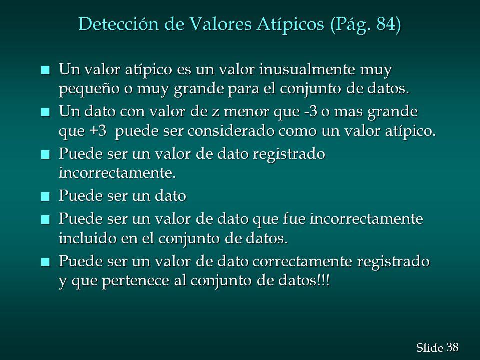 Detección de Valores Atípicos (Pág. 84)
