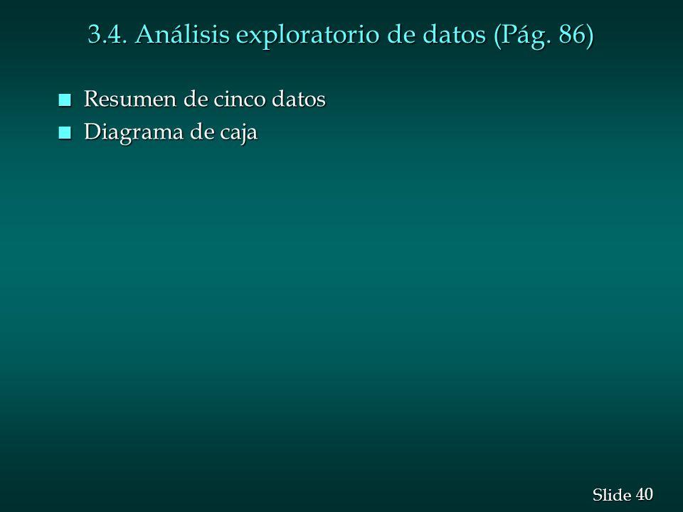 3.4. Análisis exploratorio de datos (Pág. 86)