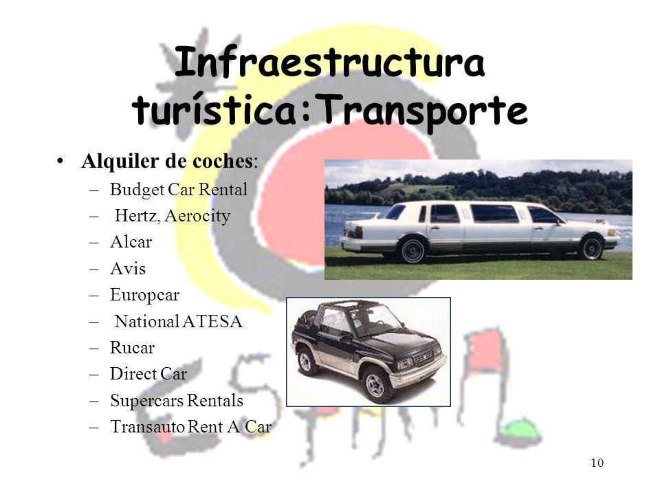 Infraestructura turística:Transporte