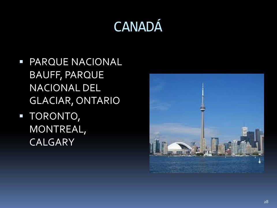CANADÁ PARQUE NACIONAL BAUFF, PARQUE NACIONAL DEL GLACIAR, ONTARIO