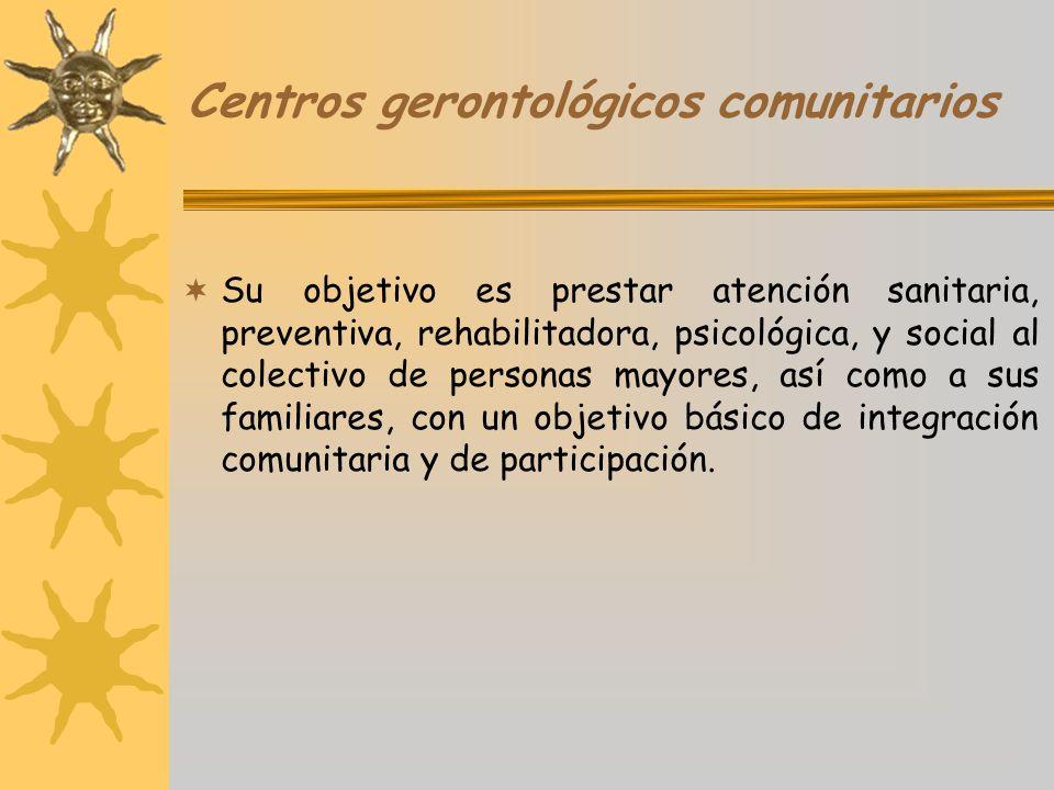 Centros gerontológicos comunitarios