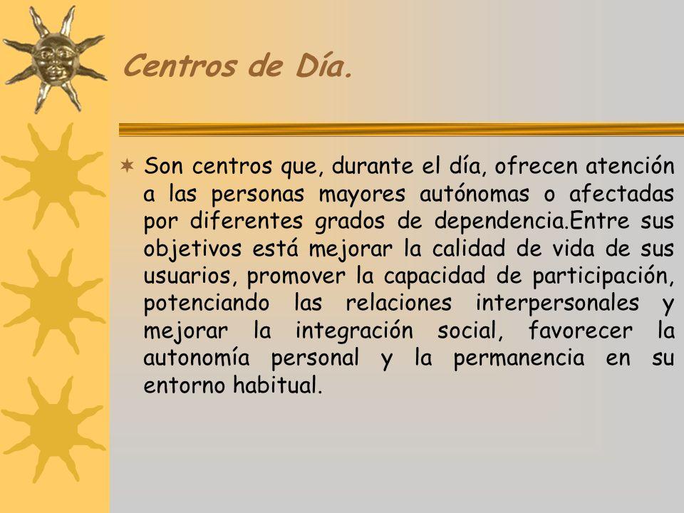 Centros de Día.