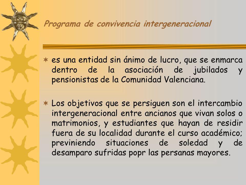 Programa de convivencia intergeneracional