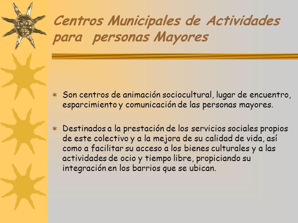 Centros Municipales de Actividades para personas Mayores