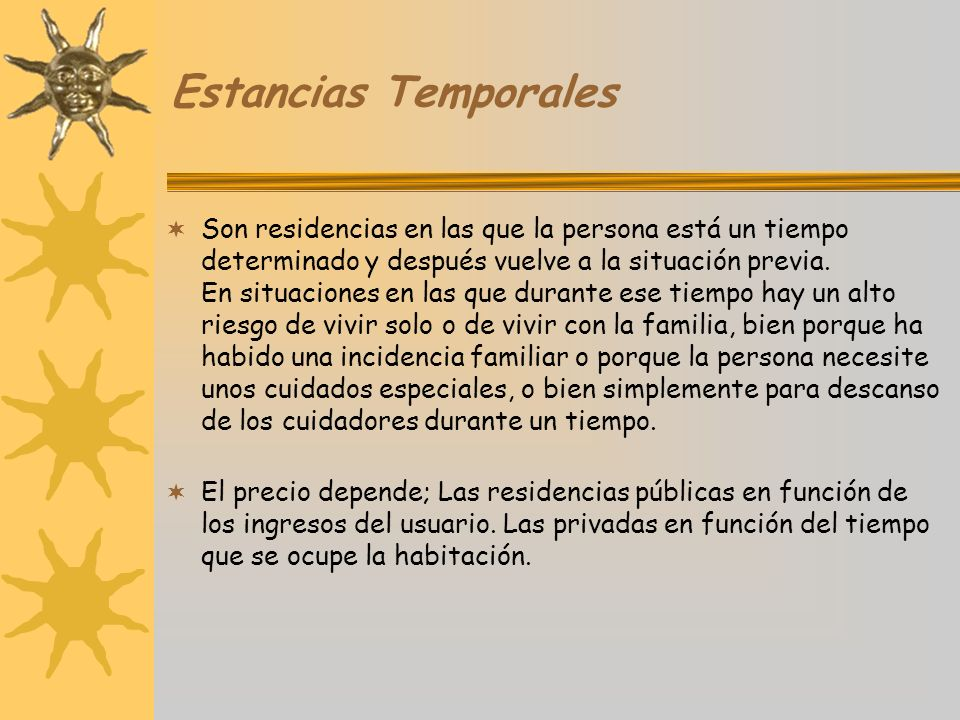 Estancias Temporales