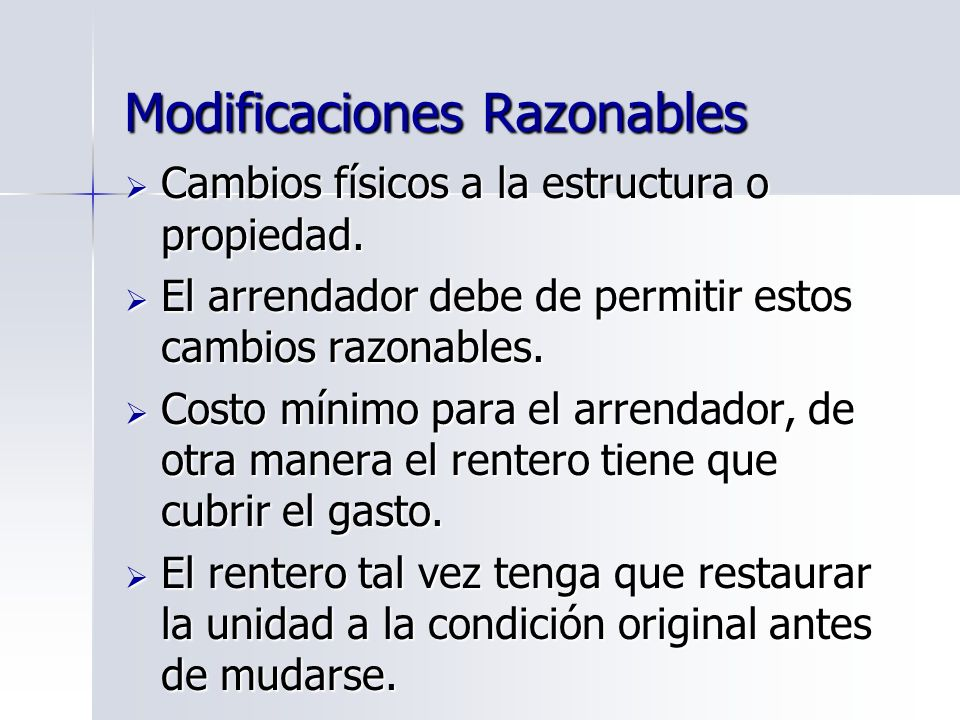 Modificaciones Razonables