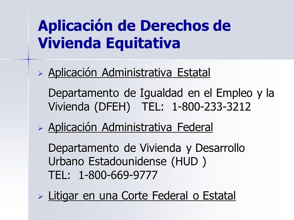 Aplicación de Derechos de Vivienda Equitativa