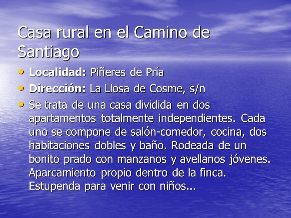 Casa rural en el Camino de Santiago
