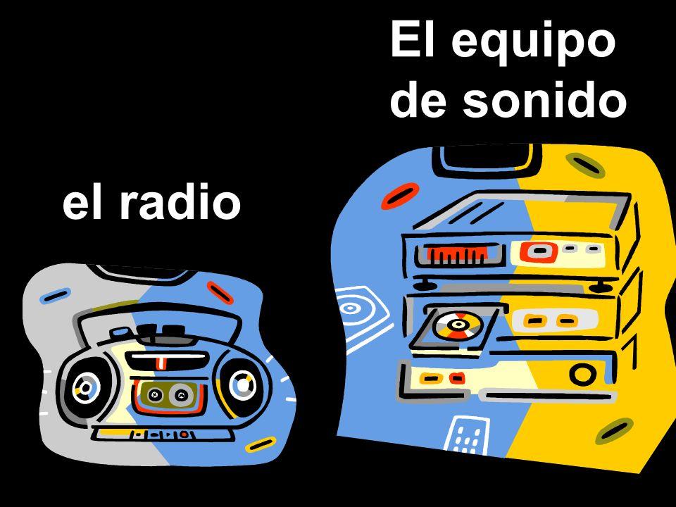 El equipo de sonido el radio