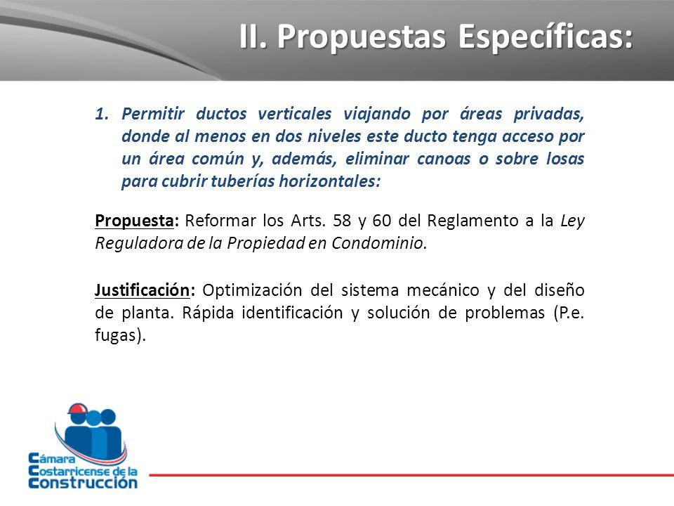 II. Propuestas Específicas: