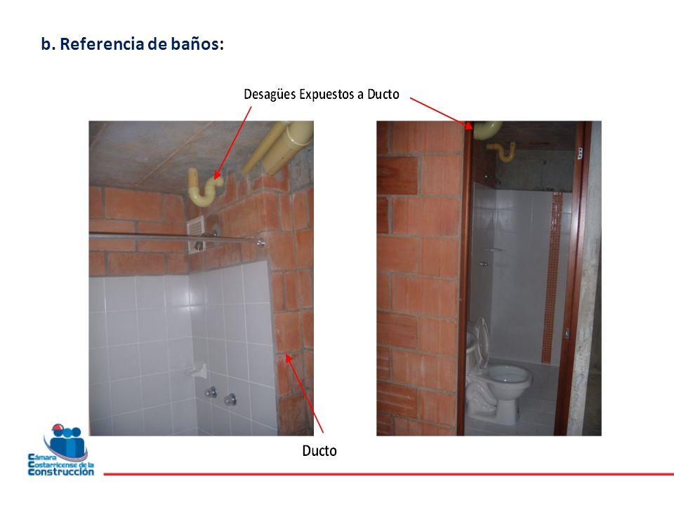 b. Referencia de baños: