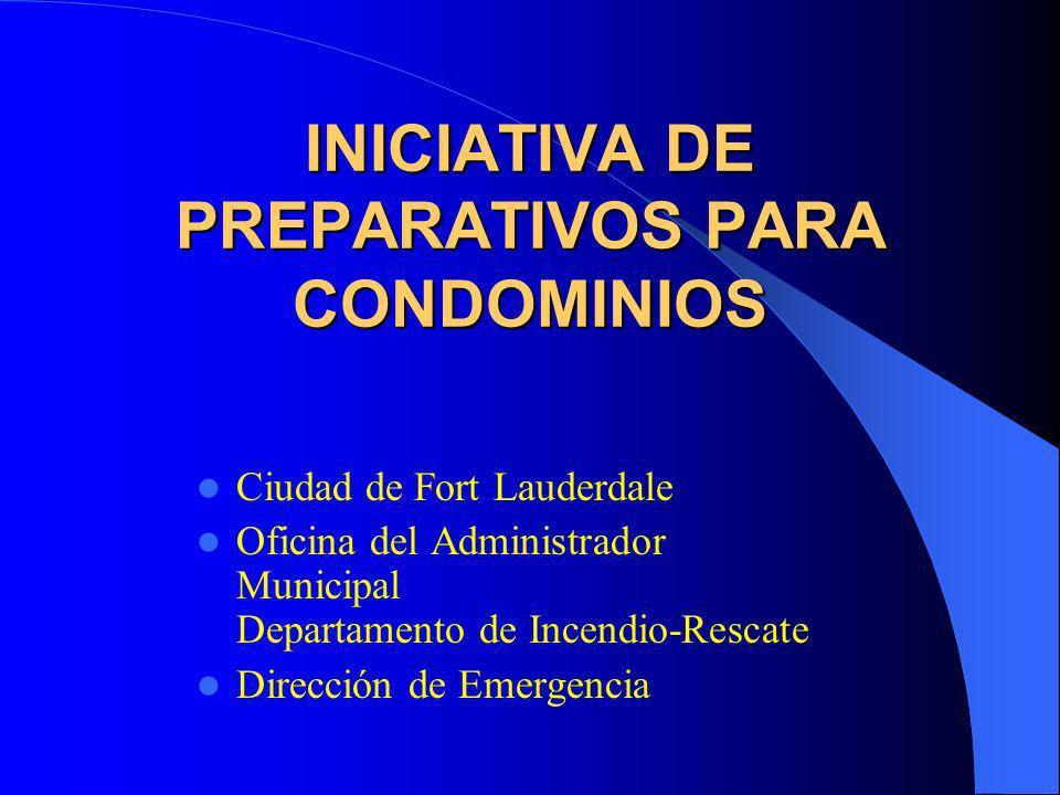 INICIATIVA DE PREPARATIVOS PARA CONDOMINIOS