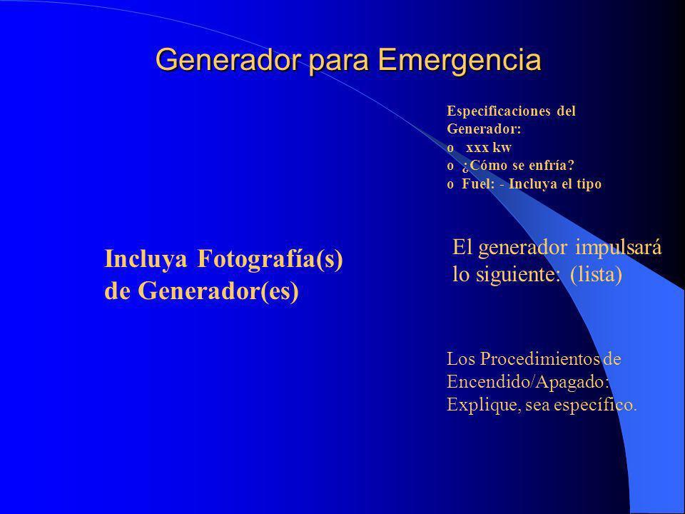 Generador para Emergencia