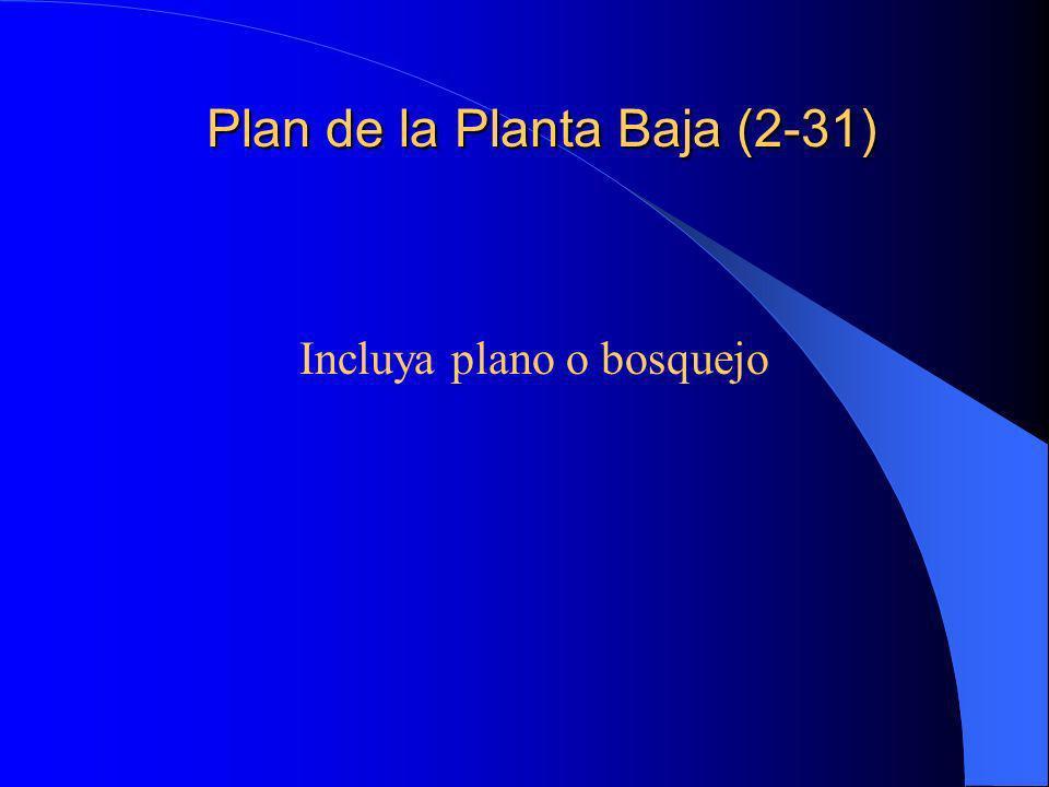 Plan de la Planta Baja (2-31)
