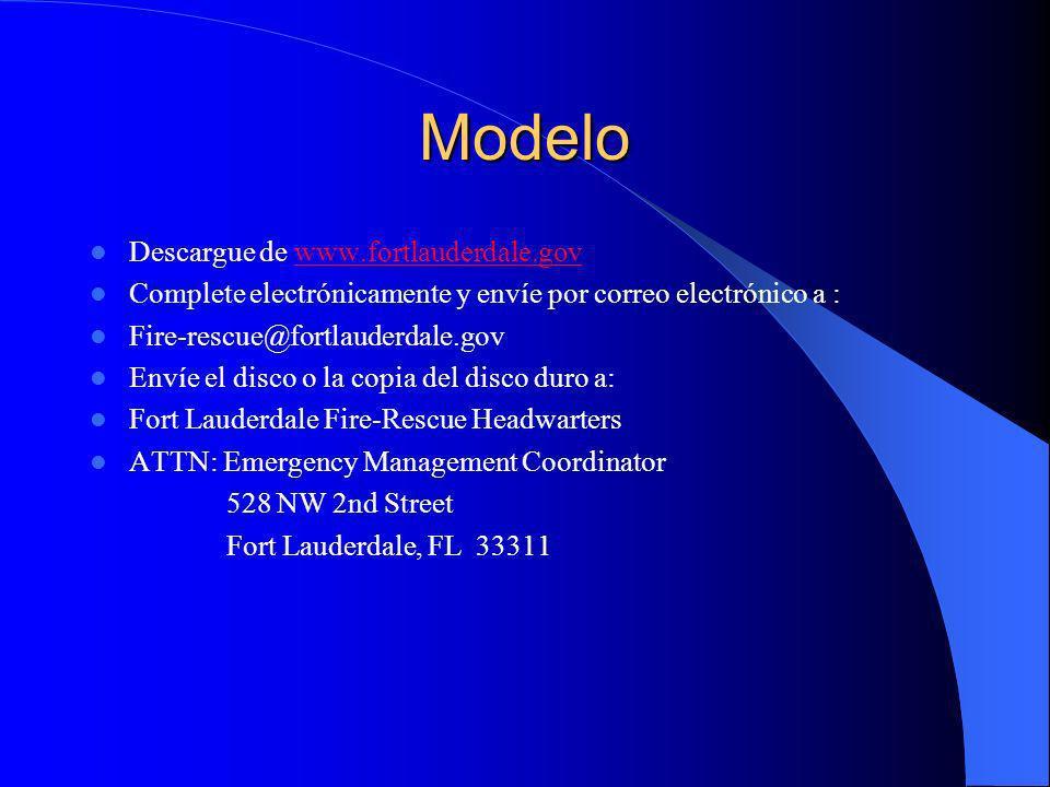 Modelo Descargue de www.fortlauderdale.gov