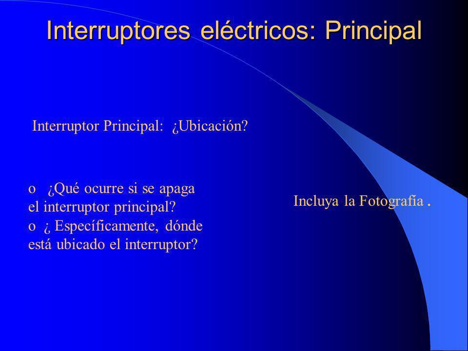 Interruptores eléctricos: Principal