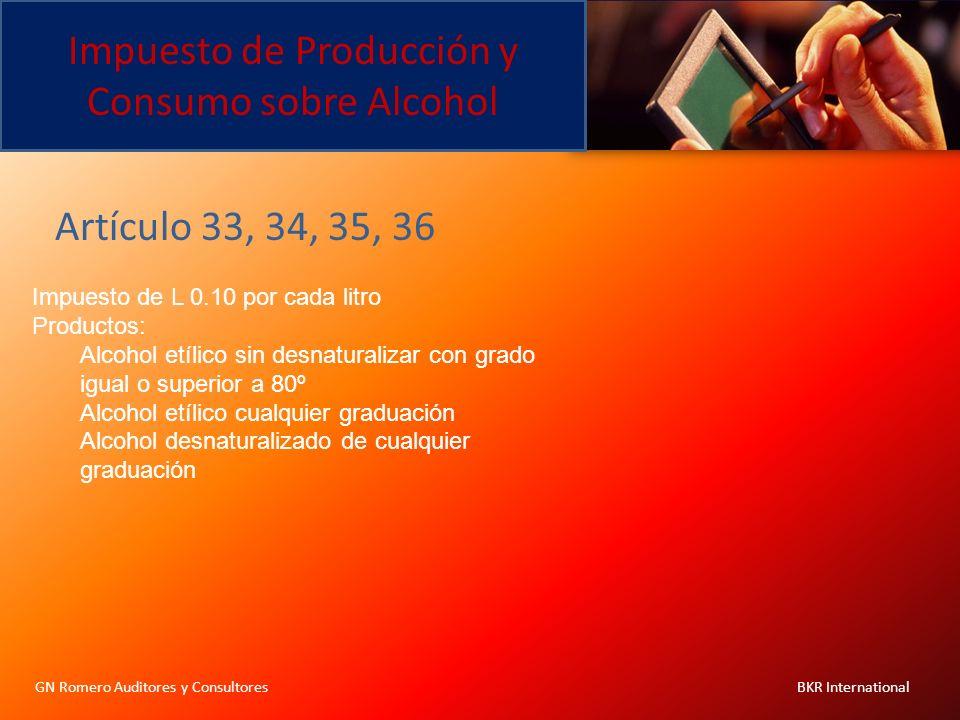 Impuesto de Producción y Consumo sobre Alcohol