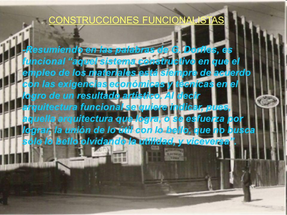 CONSTRUCCIONES FUNCIONALISTAS