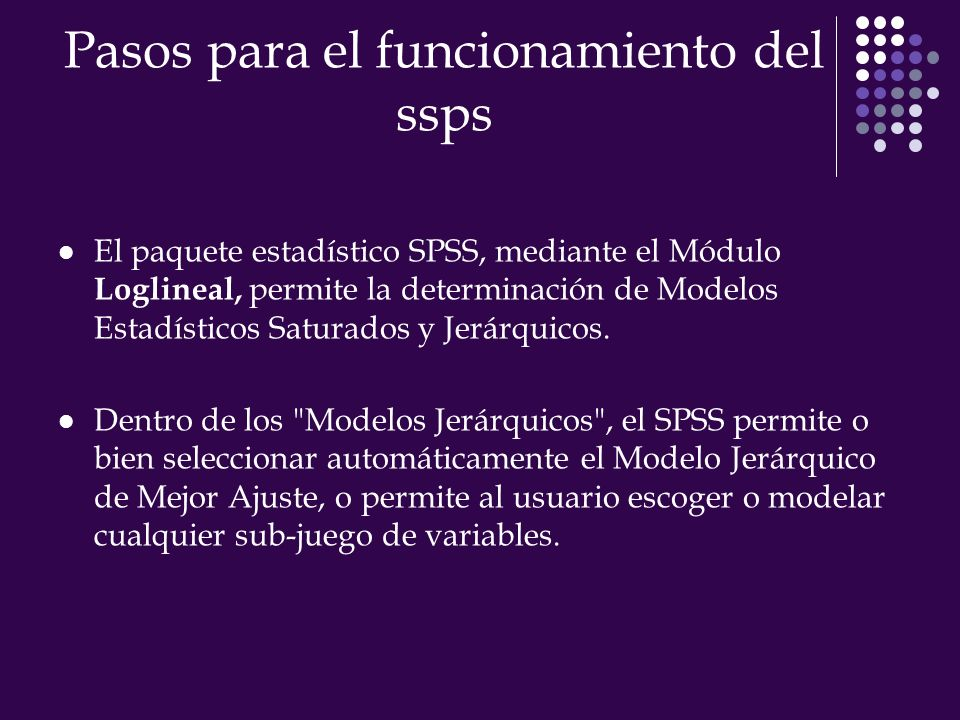 Pasos para el funcionamiento del ssps