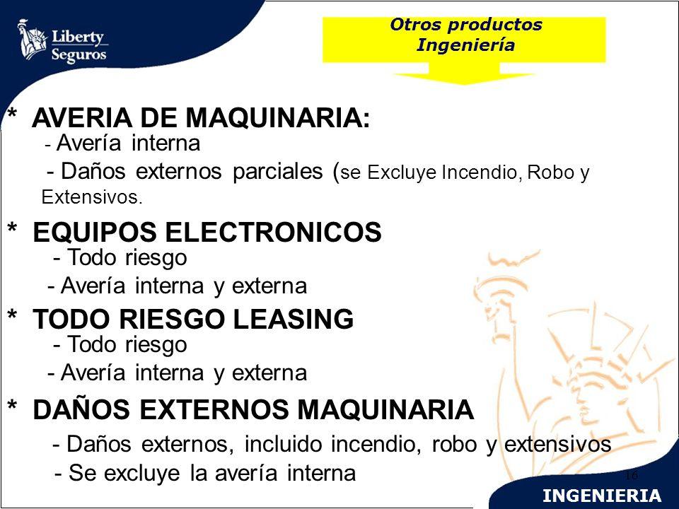 Otros productos Ingeniería
