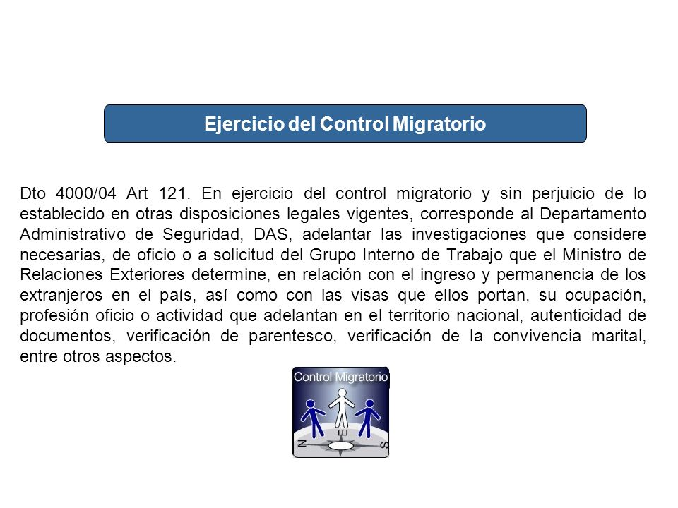 Ejercicio del Control Migratorio
