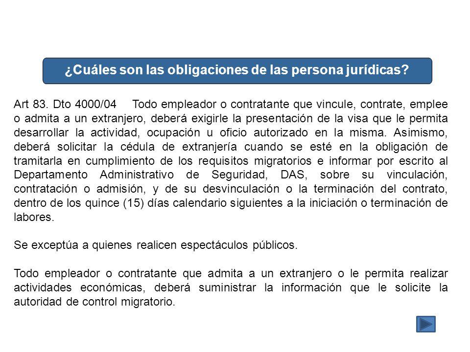¿Cuáles son las obligaciones de las persona jurídicas