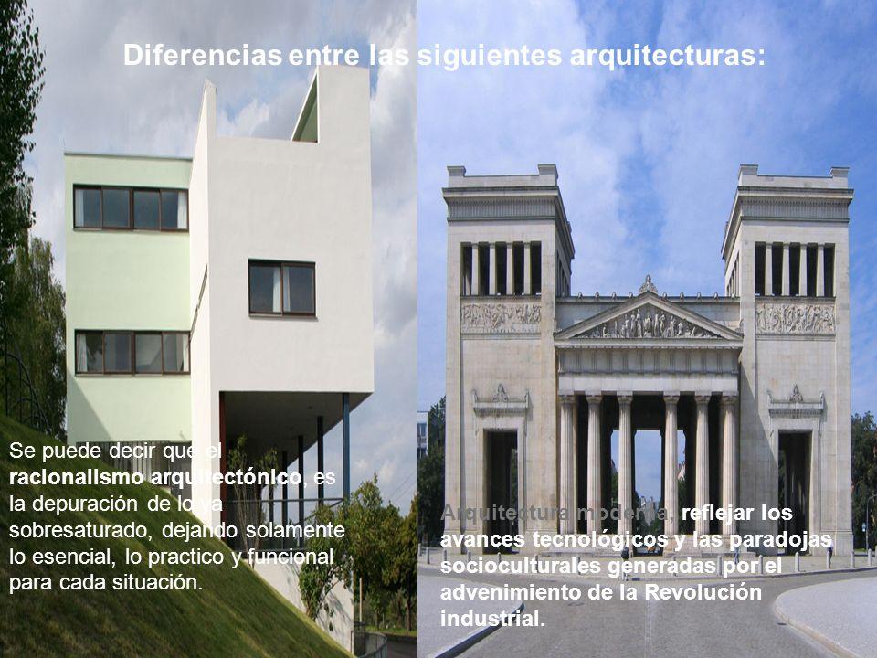 Diferencias entre las siguientes arquitecturas: