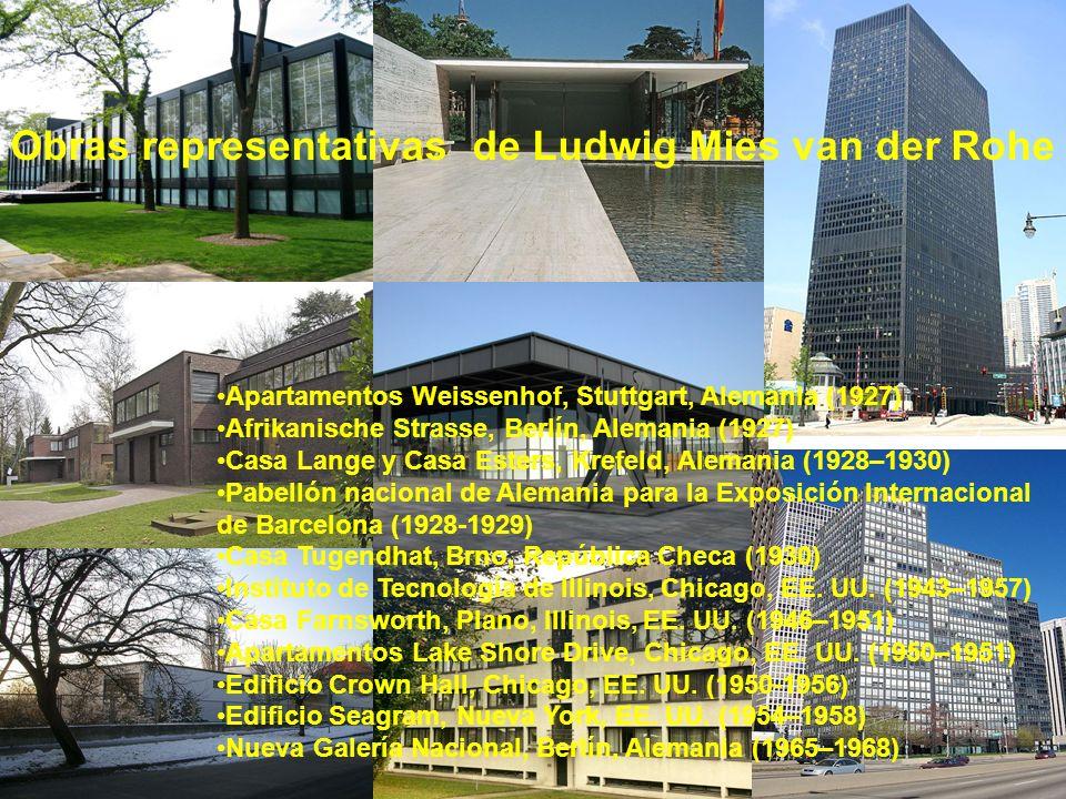 Obras representativas de Ludwig Mies van der Rohe