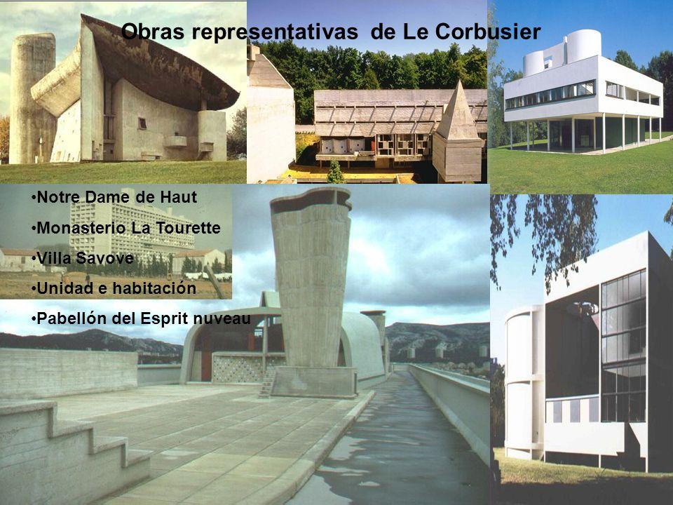 Obras representativas de Le Corbusier