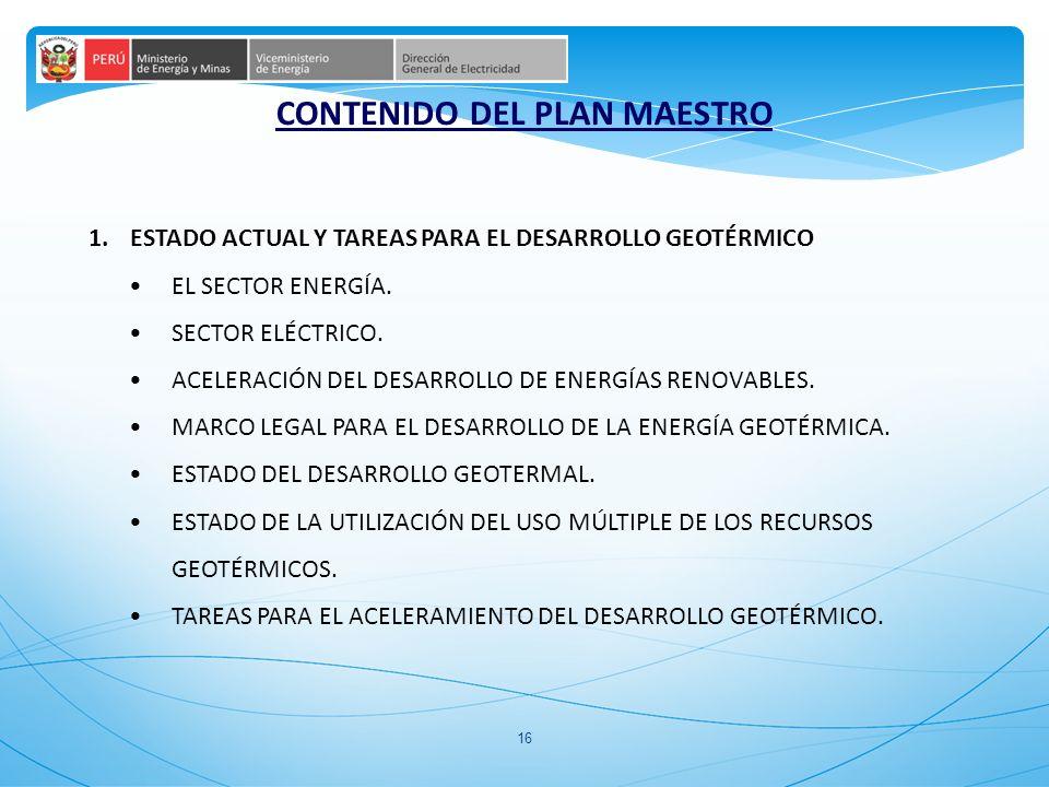 CONTENIDO DEL PLAN MAESTRO