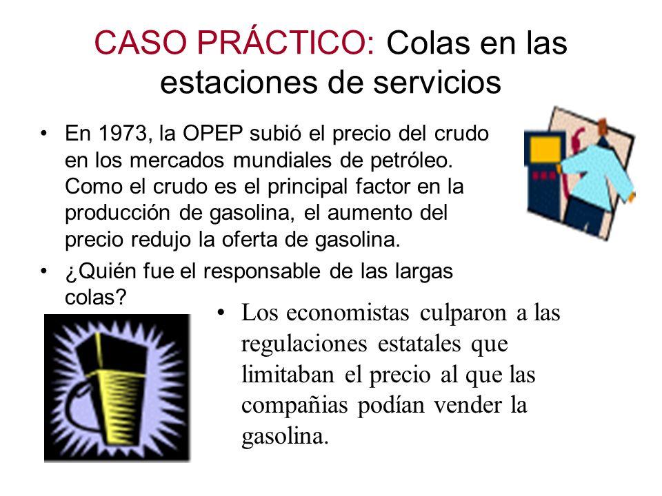 CASO PRÁCTICO: Colas en las estaciones de servicios